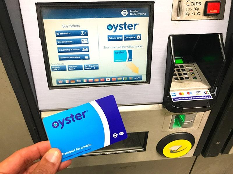 Cartão Oyster de Londres