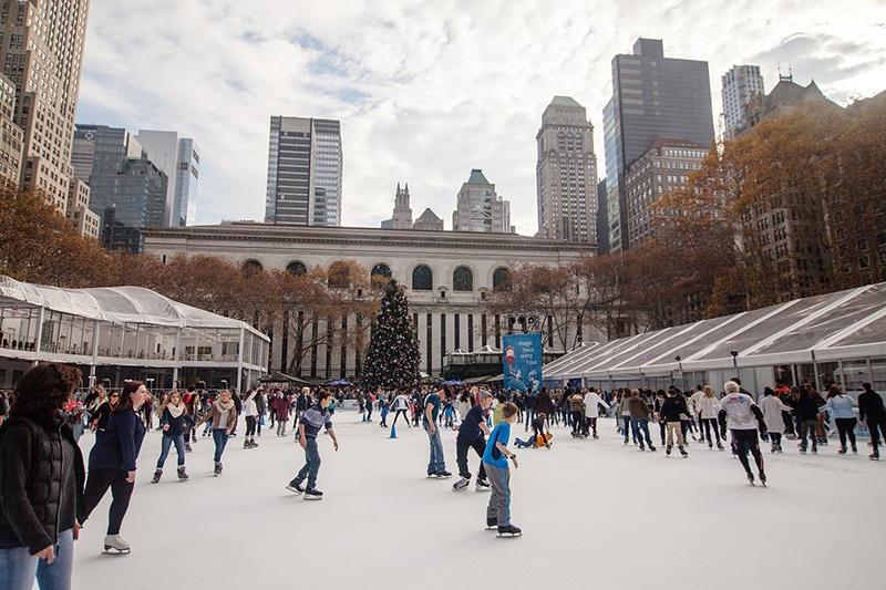 Parques de Nova York no inverno