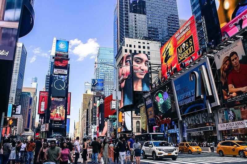 Rua dos filmes em Nova York