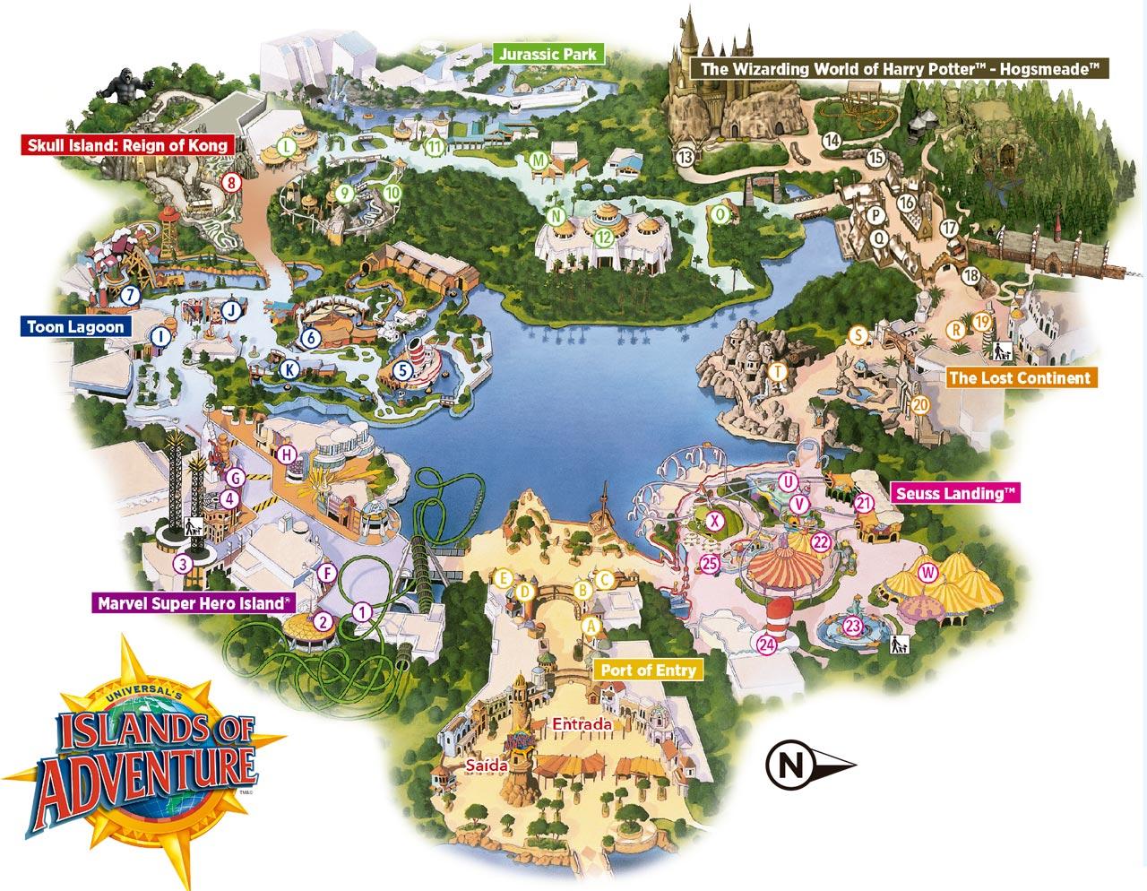 mapa parques florida