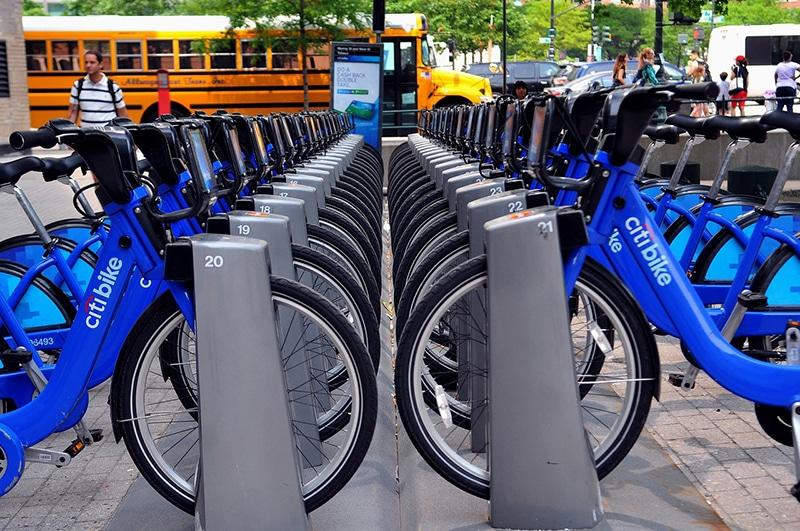 Roteiro em Nova York de bike