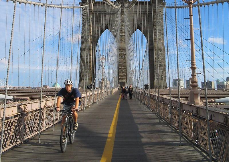 Andar de bike pelo Brooklyn