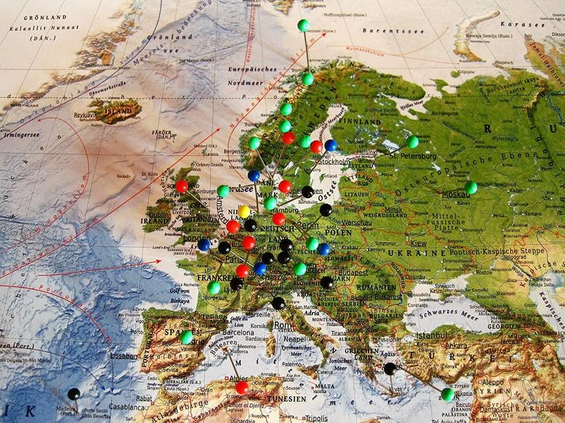 Roteiro de viagem na Europa