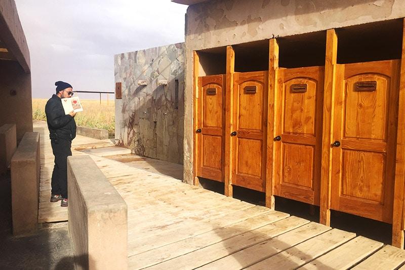 Valor de entrada na Laguna Cejar