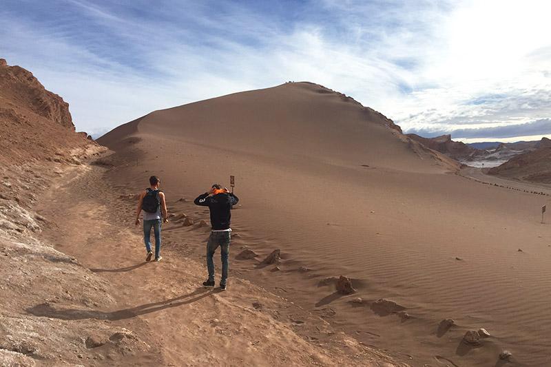 Dunas no Vale da Lua, no Atacama