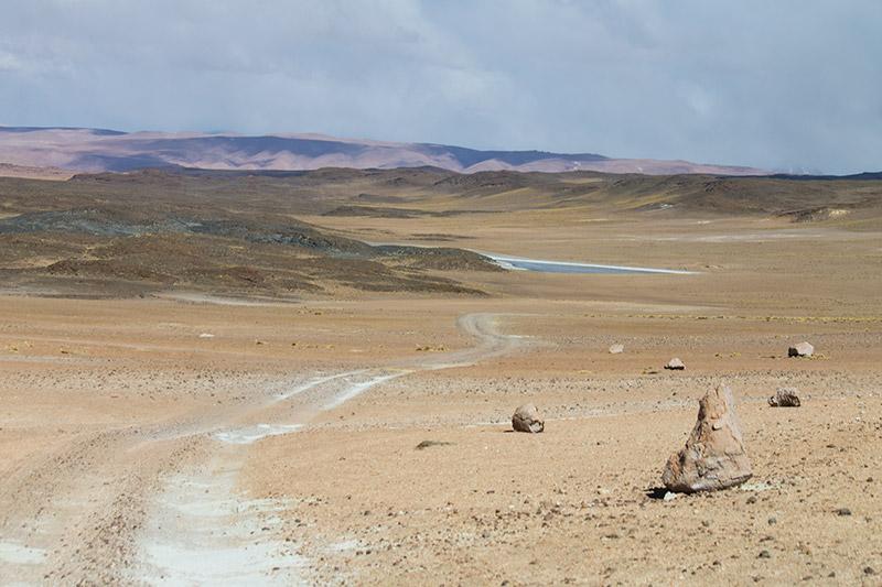 Estrada para o Salar de Tara