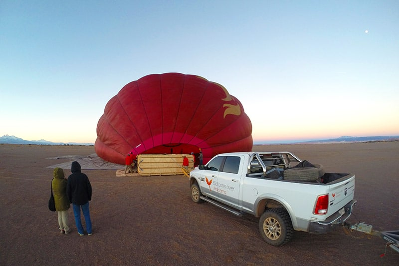 Passeio de balão no Deserto do Atacama
