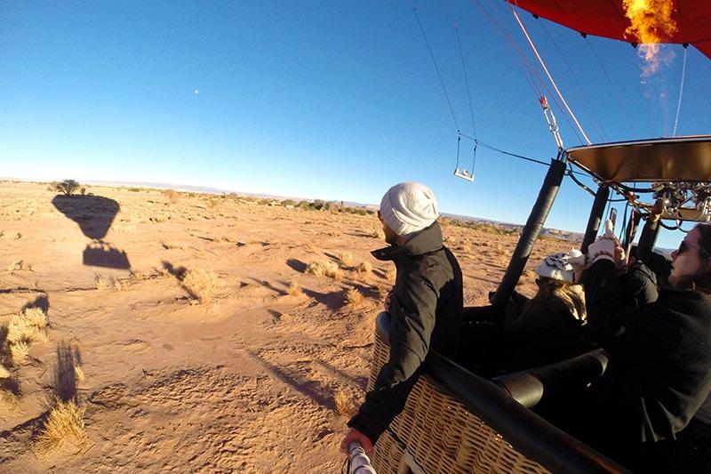 Voo de balão no Atacama