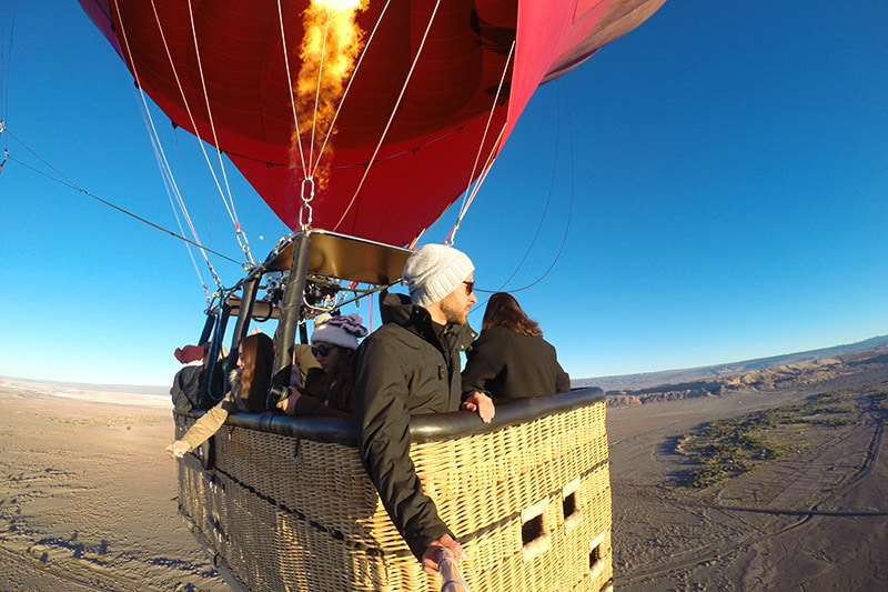 Tour de balão no Atacama