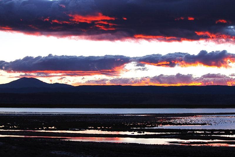 Laguna Tebenquiche, em San Pedro de Atacama