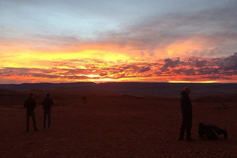 Pôr-do-sol na Pedra do Coyote