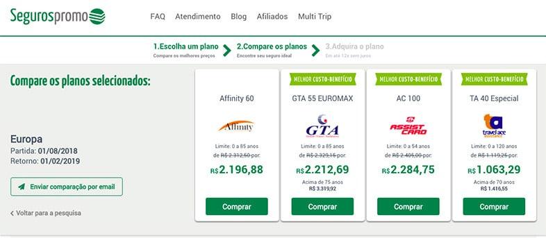Preço do seguro viagem para intercâmbio