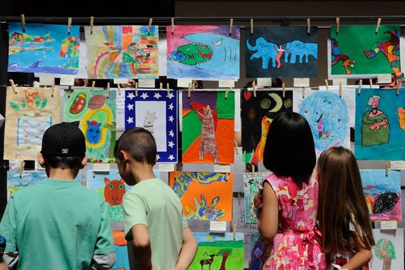 Museu Artequin com as crianças