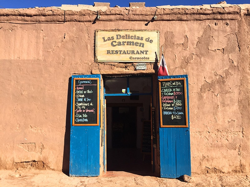 Restaurante bom e barato no Deserto do Atacama