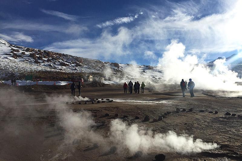 Geysers el Tatio, no Deserto do Atacama