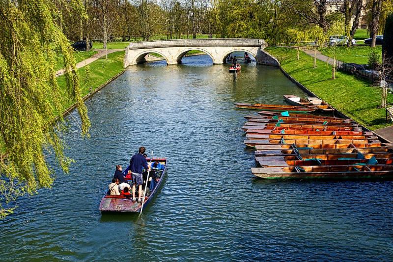 Lugares turísticos em Cambridge, Inglaterra