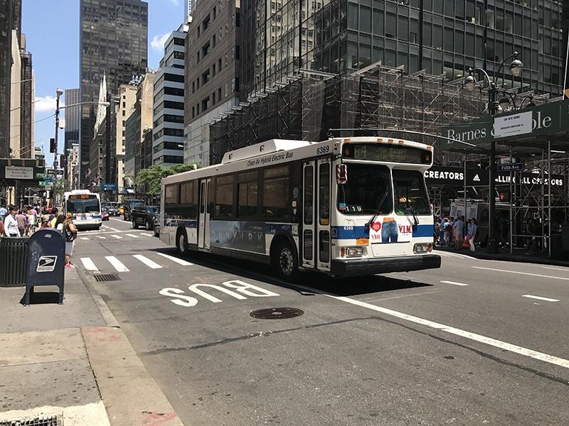 Como andar de ônibus em Nova York