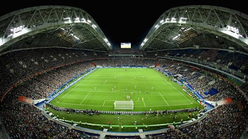 Estádio na cidade de Sochi