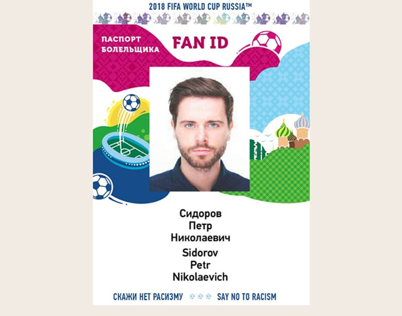 Identificação para os torcedores na Rússia