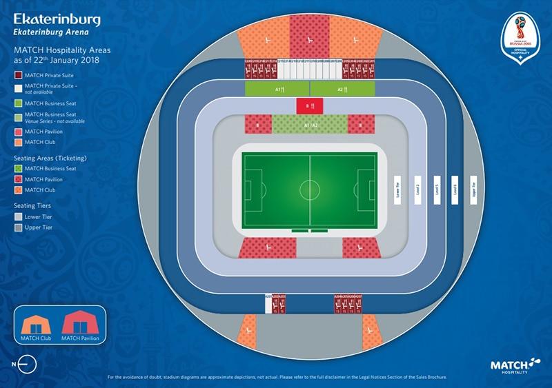 Ekaterinburg Arena localização