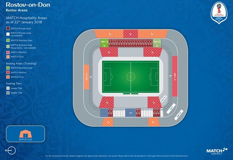 Localização do Rostov Arena