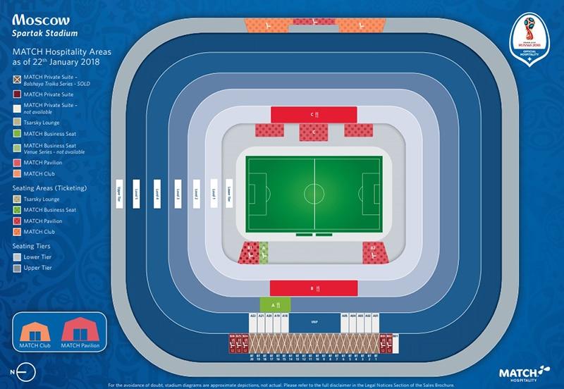 Localização do estádio de Spartak
