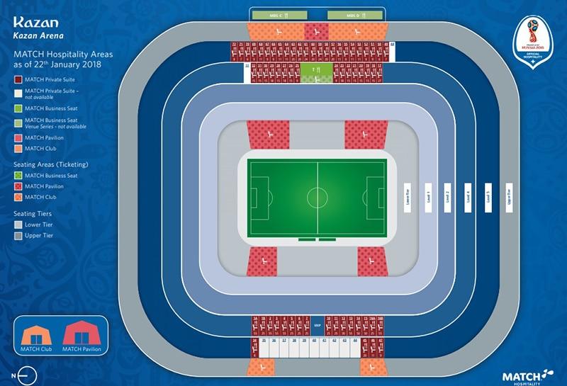 Localização Kazan Arena