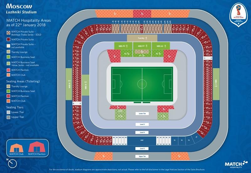 Mapa do estádio da final da Copa 2018