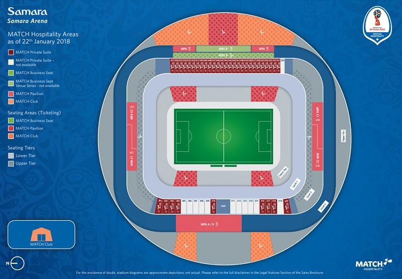 Estádio de Samara na Rússia