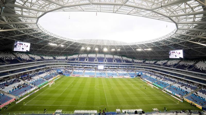 Estádio que parece uma nave espacial na Rússia