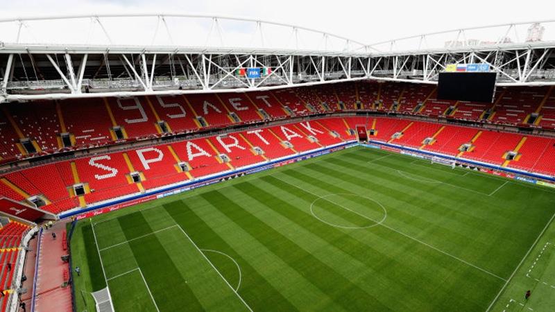 Estádios localizados na capital Moscou