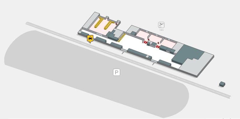Parada de táxi no aeroporto de Sevilha