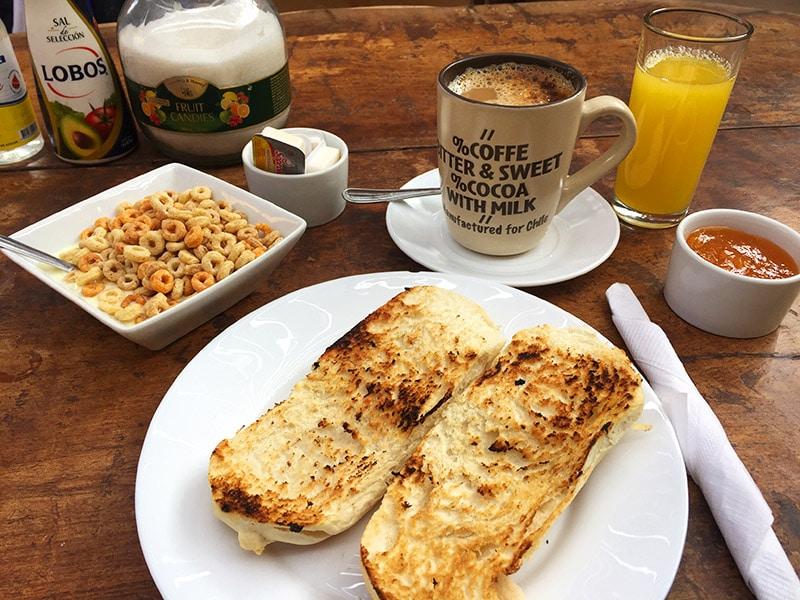 Onde tomar café da manhã no Atacama