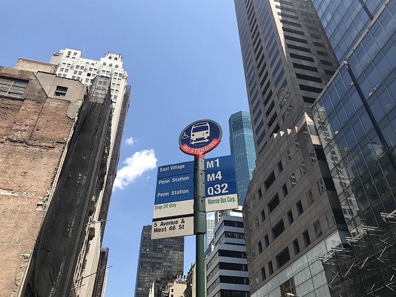 Tarifa do ônibus em Nova York