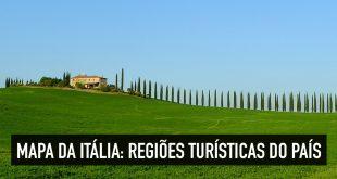 Mapa turístico da Itália