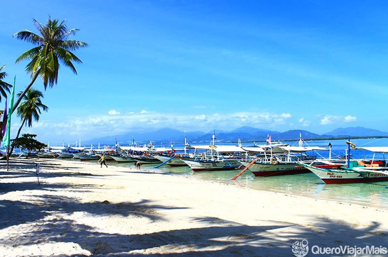 Passeio pelas ilhas em Honda Bay, Palawan