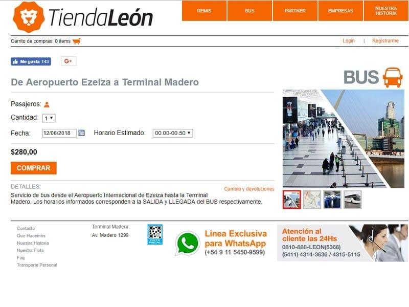 Transfer de Ezeiza ao centro de Buenos Aires