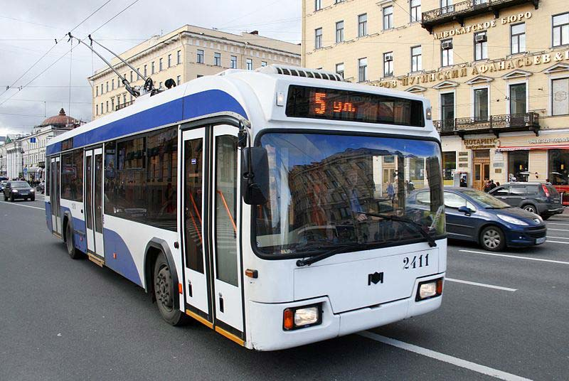 Andar de ônibus em São Petersburgo