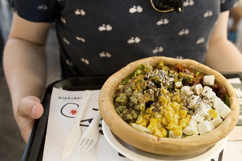 Restaurante vegano em Roma