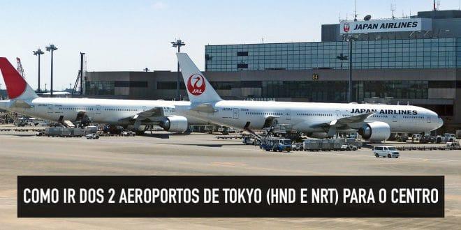 Transporte público do aeroporto de Tokyo