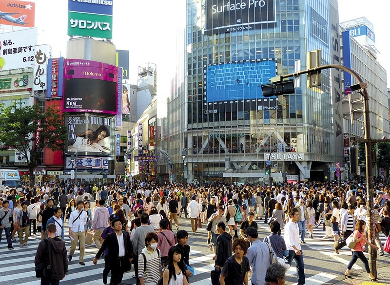 Andar de ônibus em Tokyo