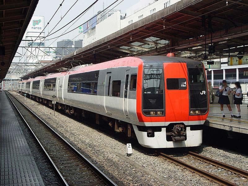 De trem de Narita até o centro de Tokyo