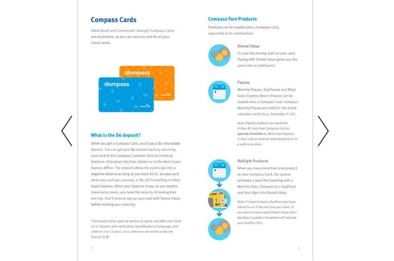 Cartão azul da Translink em Vancouver