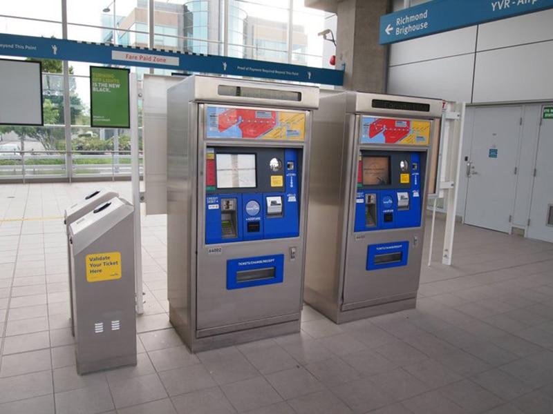 Preço do metrô do aeroporto de Vancouver para o centro