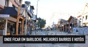 Bairros e hotéis em Bariloche