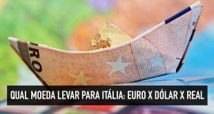 Levar euro ou real para Itália