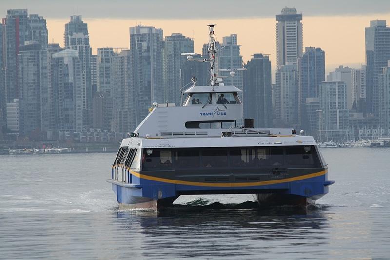 Andar de balsa em Vancouver