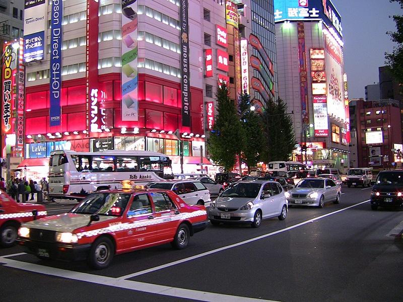 Preço do táxi em Tokyo