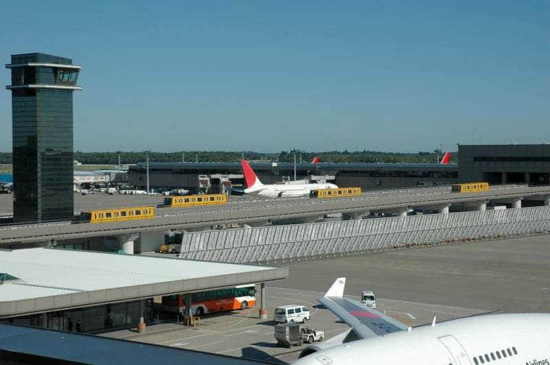 Transporte público no aeroporto de Narita