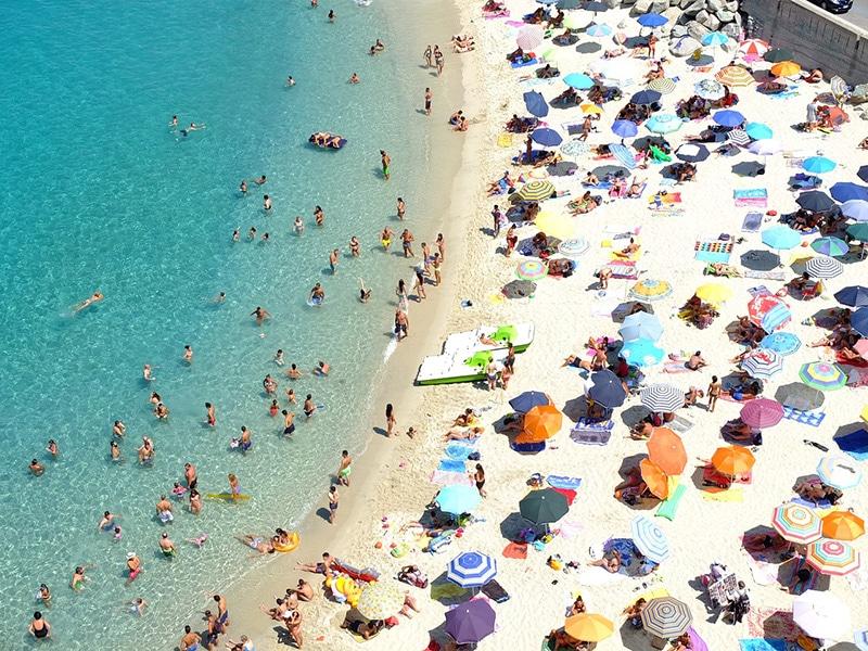 Praia de Tropea na Itália